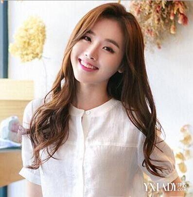 美容 发型 流行发型 / 正文  韩国卷发中分刘海 清新唯美的长卷发型总图片