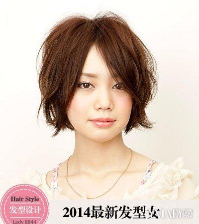 【图】短发烫发发型2014潮女图片
