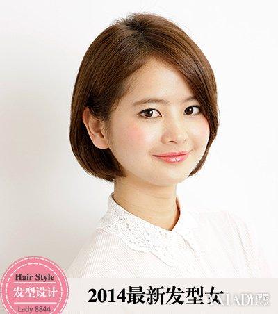 【图】短发烫发发型2014潮女图片图片