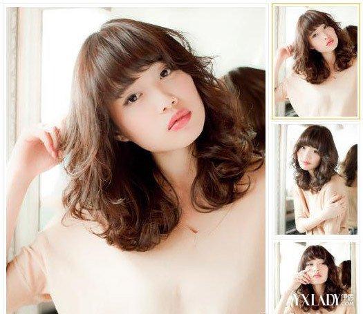 发型图片女中长发卷发 甜美百搭软妹爱图片