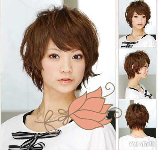 说说脸大头发少的女生适合什么发型 短发烫发瘦脸显丰盈图片
