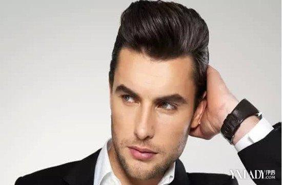 男生头发往后梳的发型 时尚型男必备潮流发型!图片