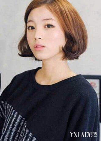 正文  女短卷发发型图片 很有学院气息的一款韩式短烫发发型,三七分的图片