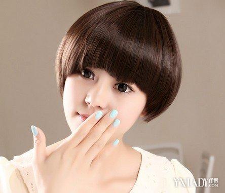 女生超短蘑菇头发型 时尚蘑菇头造型拉风图片