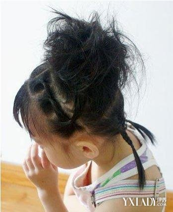 儿童盘发发型扎法图解 打造可爱小公主