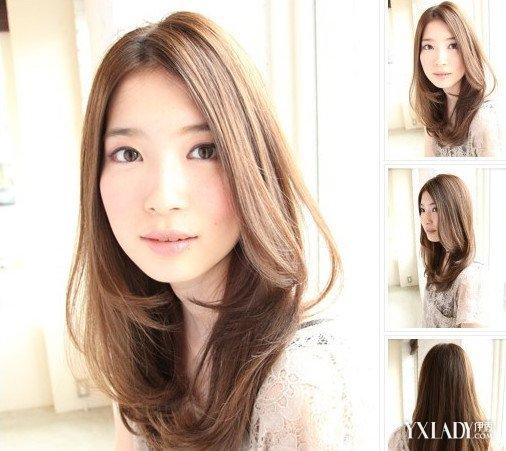 碎发发型图片女中长发 长发更显好气质图片