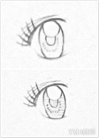 素描流泪眼睛的画法图片