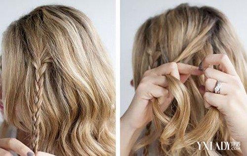 头顶心形发型扎法图解分享展示图片