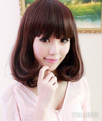 【图】5款中长发内扣空气刘海发型推荐 清新甜美充满女人味