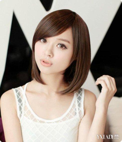刘海三七分�yg���-_三七分刘海设计 凸显时尚俏丽范