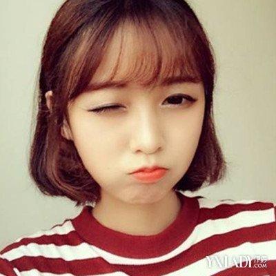 韩国空气刘海短发5,清碎蓬松的短发和空气刘海搭配,简直美得不像话图片