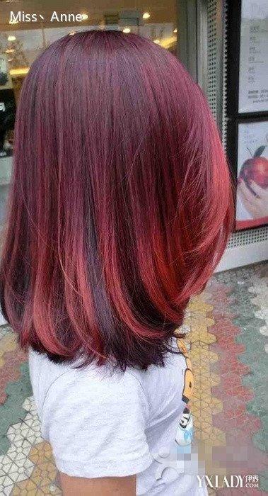 卷发渐变红色头发图片 3种红色发型介绍给你图片