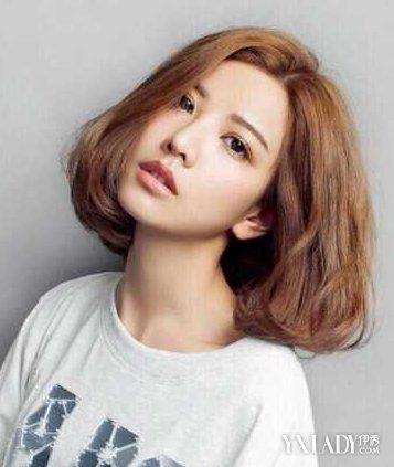 三七分女短发烫发发型分享展示图片