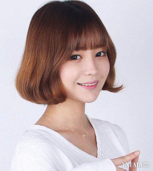 大圆脸女生适合空气刘海_发型设计图片