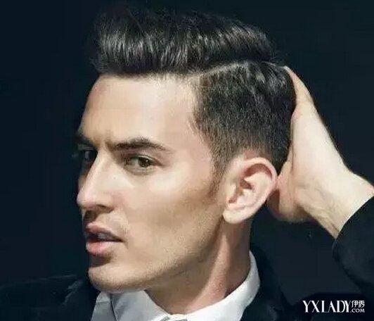 男生短烫头发型图片展示图片