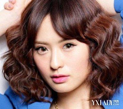 【图】韩国短发水波纹烫发图片_发型设计图片