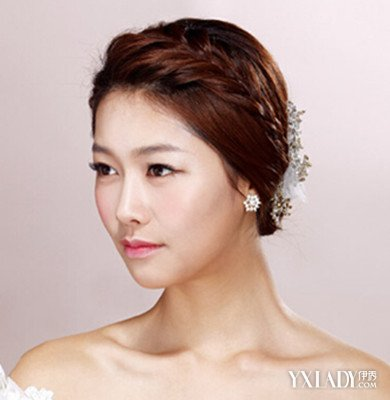 唯美斜刘海结婚发型 4款发型让你做美的新娘图片