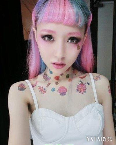 【图】 挑染发型图片短发图片 超个性渐变色发型图片