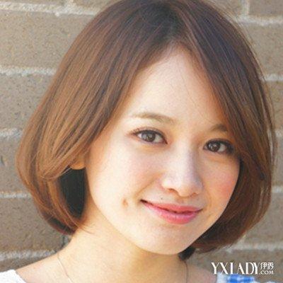 胖人短发圆脸发型女 个性短发超显瘦图片