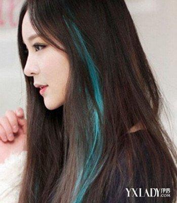 染发蓝黑色效果图
