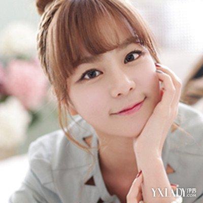 韩式头发帘发型 修颜减龄时尚可人图片