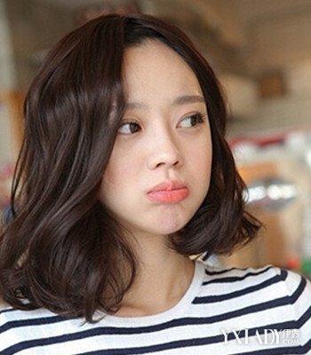 【图】韩式中短发微卷烫发图片