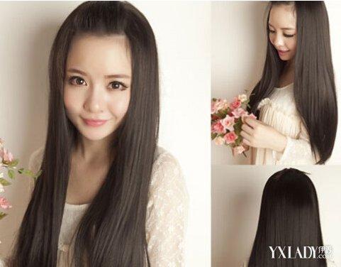 【图】直刘海长发发型图片图片图片