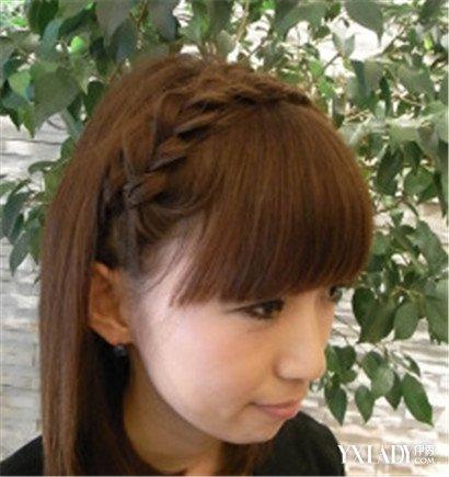 【图】短发齐刘海编发发型教程图解 短发女生也美丽