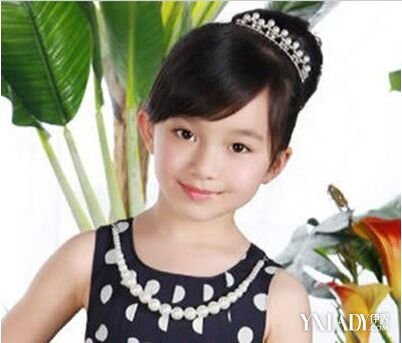 【图】小孩盘发小公主发型 优雅不失甜美