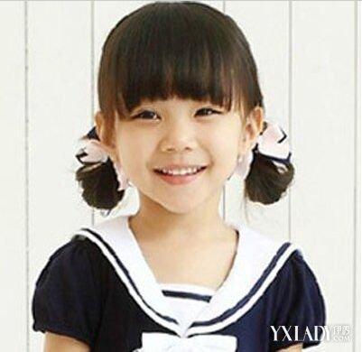 小孩盘发小公主发型 优雅不失甜美图片