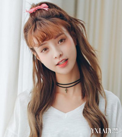【图】图片刘海美女中短发发型介绍呆萌可爱长发空气韩国图片