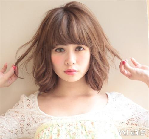 【图】韩式水波纹烫发短发v波纹夏季最in的发型细子烫短发图片