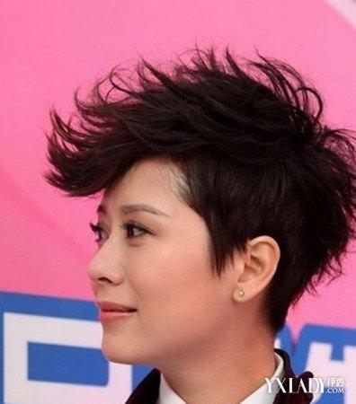 【图】女生短发飞机头发型图片