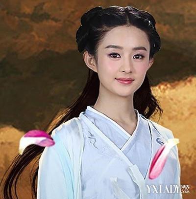 【图】赵丽颖花千骨编发发型大展示 戏里戏外皆甜美可爱图片