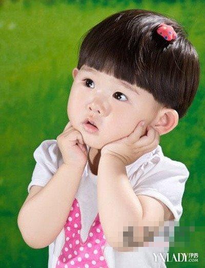 岁女宝宝发型蘑菇头分享展示图片