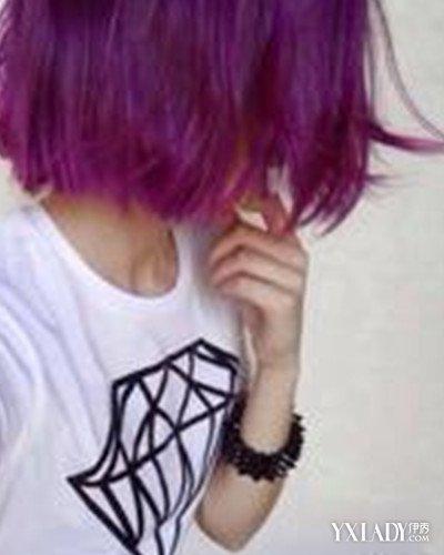 【图】图片头发脸型短发吸睛为图片加分(3)_紫水果紫色烫短发2015图片