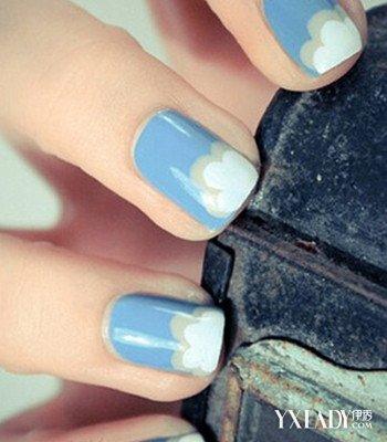 【图】冬季法式美甲图片短指甲