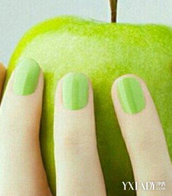 美甲小清新绿色图片 清爽整个夏季