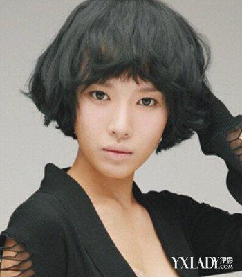 【图】圆脸短发发型图片女图片