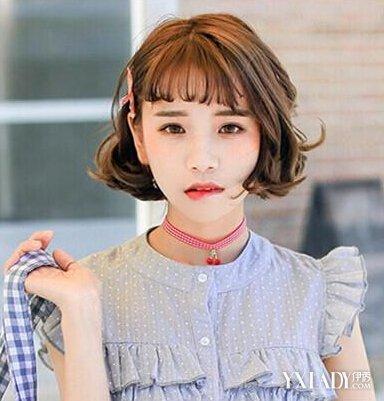2016潮女短发烫发发型图片图片