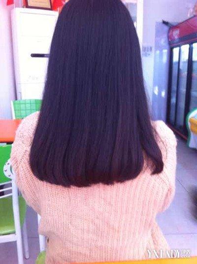 圆齐发型背影直发发型 动人直发打造清新女神范