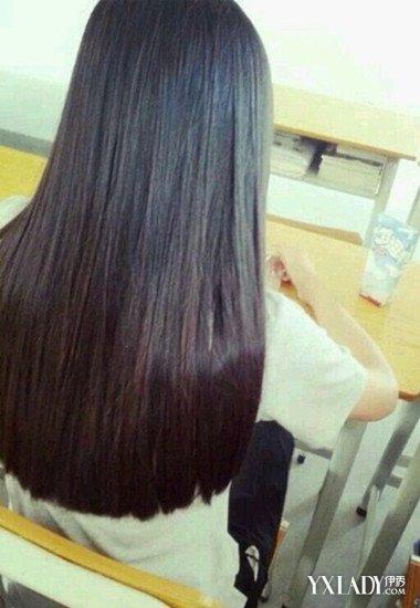 圆齐发型背影直发发型 动人直发打造清新女神范图片