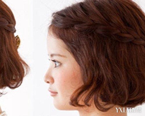 短发小辫子发型扎法曝光 3个步骤让你美美哒图片