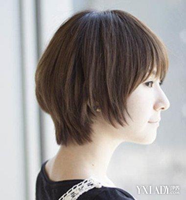 【图】韩式短发女生头像侧脸发型