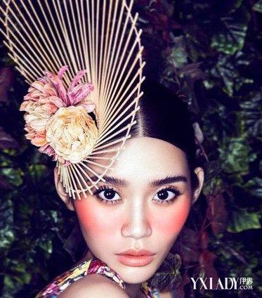 【图】夸张创意彩妆欣赏 缤纷色彩演绎森林魅惑妆图片