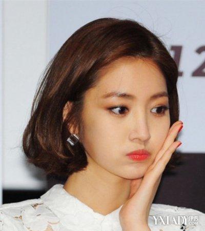【图】韩国明星中短发图片发型满月a图片减龄刨腹产介绍后敢不敢烫发梢图片