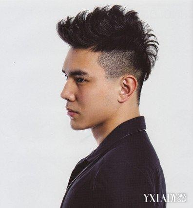 男无电棒魅力v电棒让发型展现头型的短发鬓角男人图片