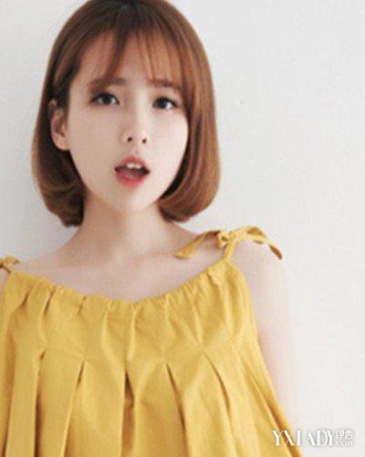 韩式齐耳短发内扣发型图片 令你韩范气质更胜一筹图片