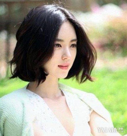 【图】韩版学生短发瘦脸v学生发型必学超圆脸烫发前要用什么洗头好图片