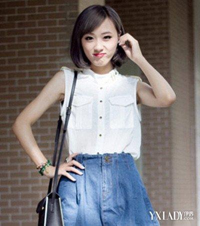 【图】可爱斜刘海女短发发型